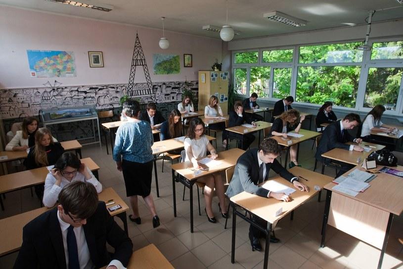 Matura z języka angielskiego w II LO im. Romualda Traugutta w Częstochowie /Jarosław Respondek /Reporter