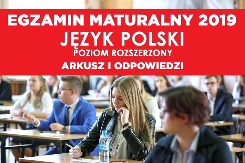 Matura z języka polskiego 2019; zdj. ilustracyjne / Lech Muszyński    /PAP