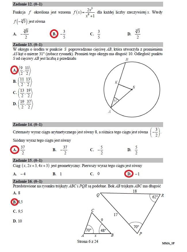 matura z matematyki maj 2021 arkusz