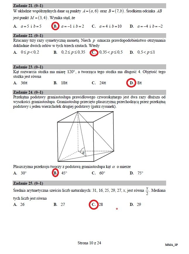 matura 2021 z matematyki arkusz