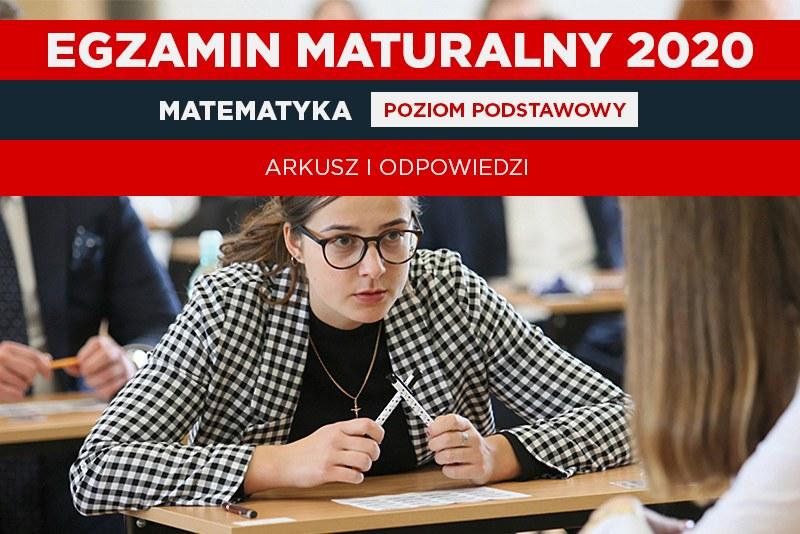 Matura z matematyki na poziomie podstawowym była obowiązkowa (oprac. graficzne: Interia) / Lech Muszyński    /PAP