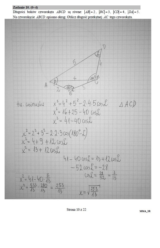 Matura z matematyki, poziom rozszerzony /RMF FM