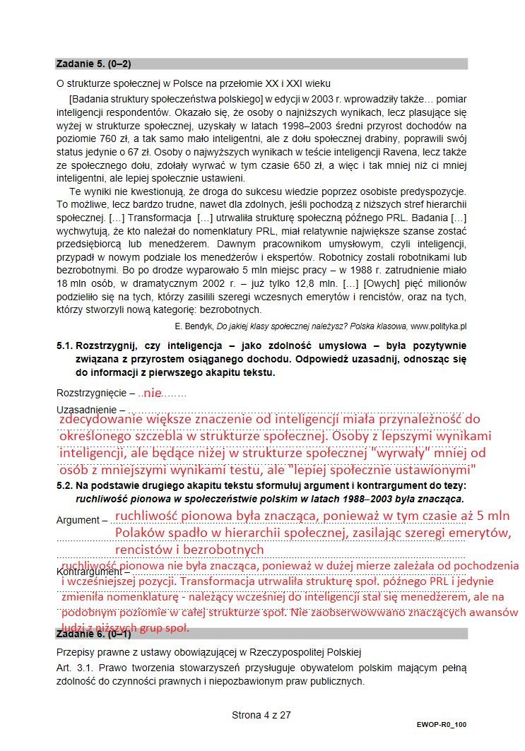 Matura z WOSu. Arkusz CKE /INTERIA.PL