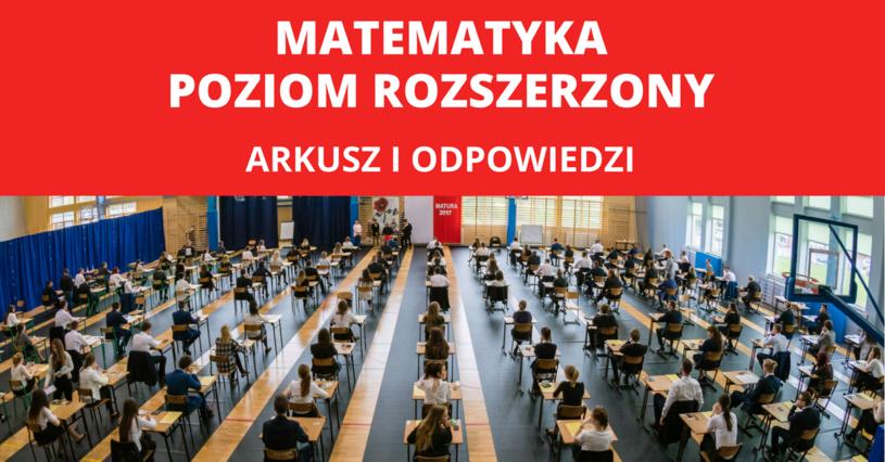Maturzyści napisali dziś egzamin z matematyki na poziomie rozszerzonym /Fot. Slawomir Olzacki/ Oprac. graf. INTERIA.PL /