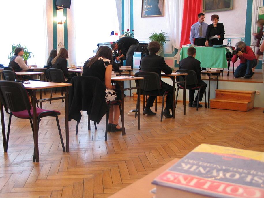 Maturzyści przed egzaminem /RMF FM