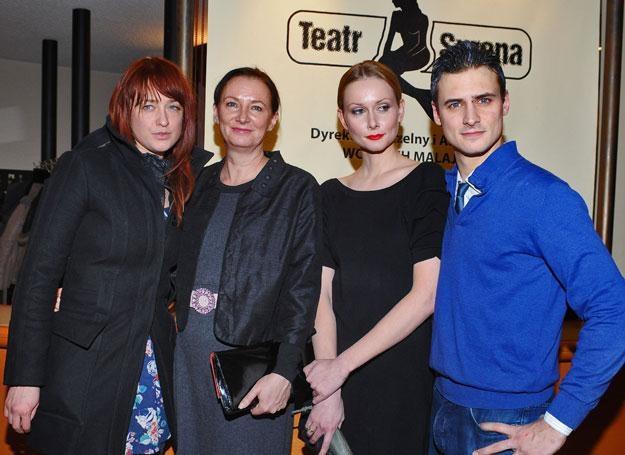 Matylda Damięcka, Joanna Damięcka, Mateusz Damięcki, Patrycja Krogulska fot.Andras Szilagyi /MWMedia