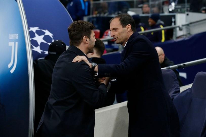 Mauricio Pochettino (z lewej) i Massimiliano Allegri /AFP