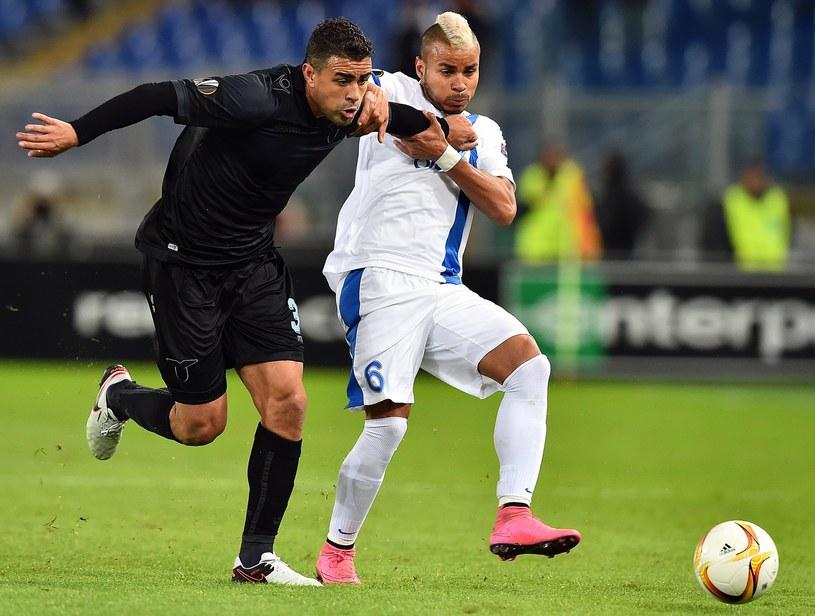 Mauricio (z lewej) w barwach Lazio /AFP