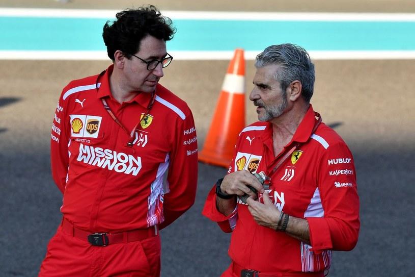 Maurizio Arrivabene (z prawej) i Mattia Binotto /AFP