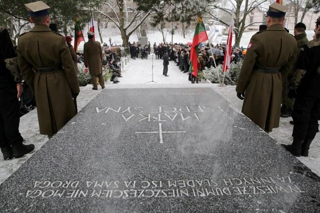 Mauzoleum marszałka Józefa Piłsudskiego na cmentarzu na Rossie w Wilnie /Tomasz Waszczuk /PAP