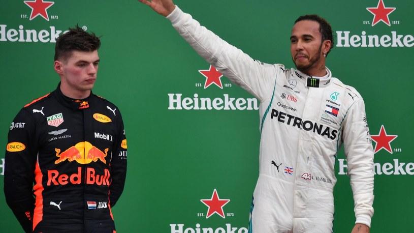 Max Verstappen i Lewis Hamilton /SID