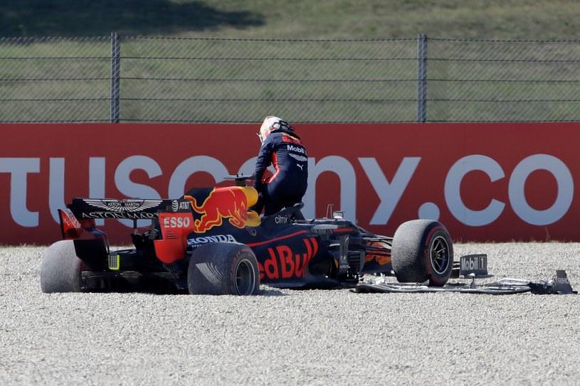 Max Verstappen szybko zakończył rywalizację na torze w Mugello /AFP
