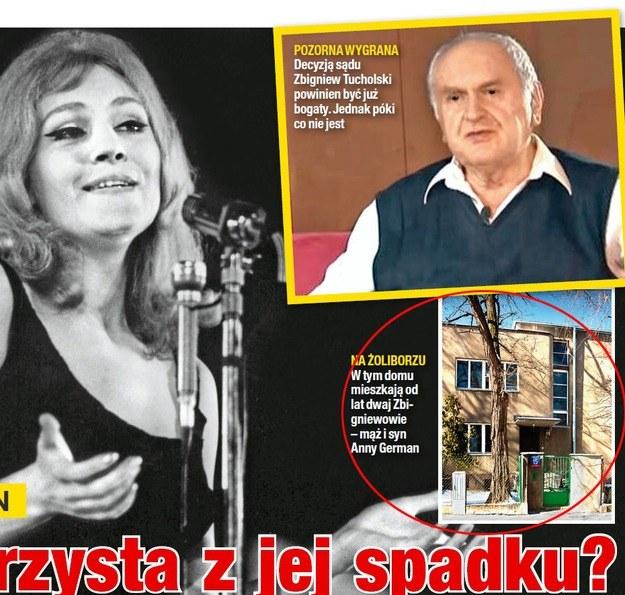 Mąż Anny German z synem żyje skromnie w domu na warszawskim Żoliborzu /Na żywo