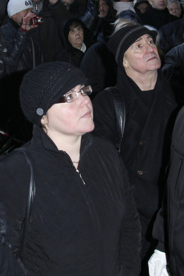 Mąż i córka Ireny Jarockiej /- /AKPA