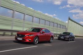 Mazda 6 2.2 SkyActiv-D 175 6AT, Volkswagen Passat 2.0 TDI 190 DSG - porównanie