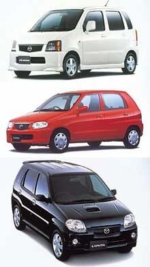 Mazdy: AZ-Wagon, Carol SX-Special i Laputa /INTERIA.PL