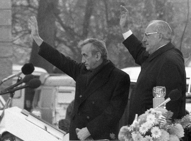 """Mazowiecki i Kohl nie poczuli wówczas pomiędzy sobą """"chemii, choć później darzyli się sympatią"""" /Tomasz Kosiorowski /Fotonova"""
