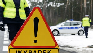 Mazowieckie: Audi A6 wypadło z drogi, dwóch młodych mężczyzn nie żyje