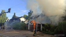 Mazowieckie: Pożar domu po awarii przyłącza gazowego. Czterech rannych
