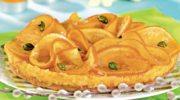 Mazurek pomarańczowy z pistacjami