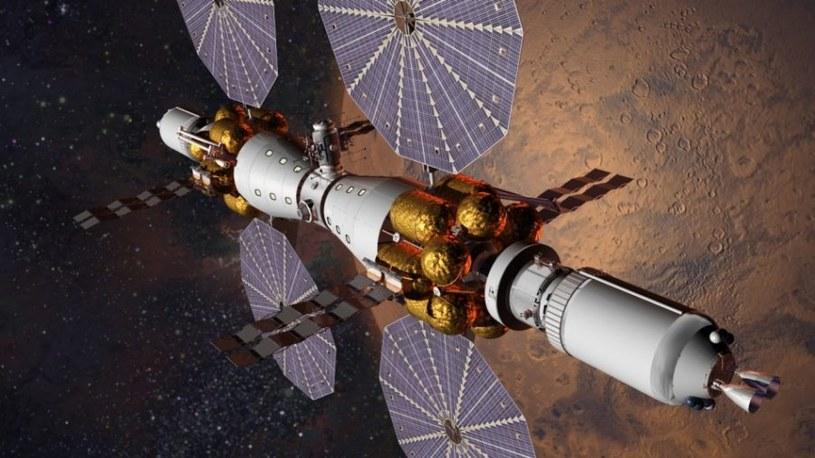 MBC - Koncepcja stacji kosmicznej krążącej wokół Marsa opracowana przez Lockheed Martin /materiały prasowe