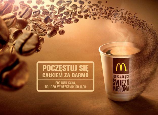 McDonald's częstuje poranną kawą, całkiem za darmo! /materiały prasowe