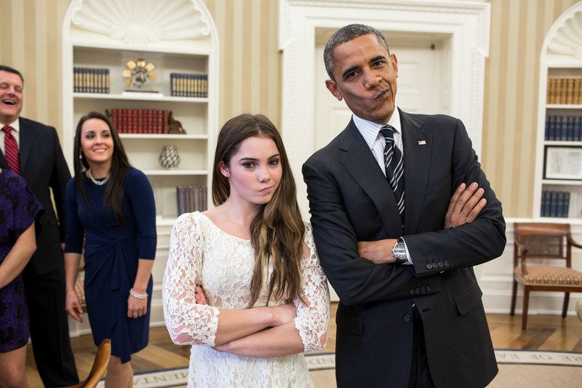 McKayla Maroney i Barack Obama /The White House /Getty Images