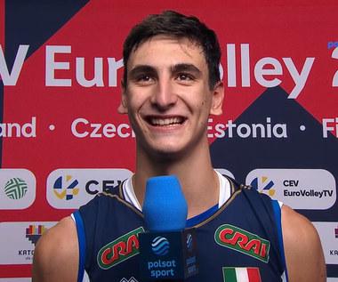 ME siatkarzy 2021. Alessandro Michieletto (Włochy): Chcemy sprawić niespodziankę, tak jak Słowenia przeciwko Polsce (POLSAT SPORT). Wideo