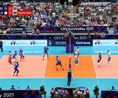 ME siatkarzy 2021. Czechy - Słowenia, 0-3. Wideo (POLSAT SPORT)