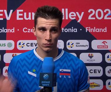 ME siatkarzy 2021. Klemen Czebulj (Słowenia): Byliśmy spokojniejsi od Polaków (POLSAT SPORT). Wideo
