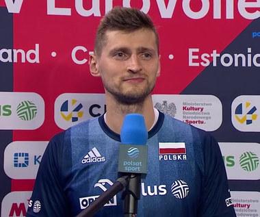 ME siatkarzy 2021. Piotr Nowakowski po wygranym meczu z Grecją (POLSAT SPORT). Wideo