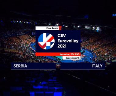 ME siatkarzy 2021. Serbia - Włochy 1-3. Skrót meczu (POLSAT SPORT). Wideo
