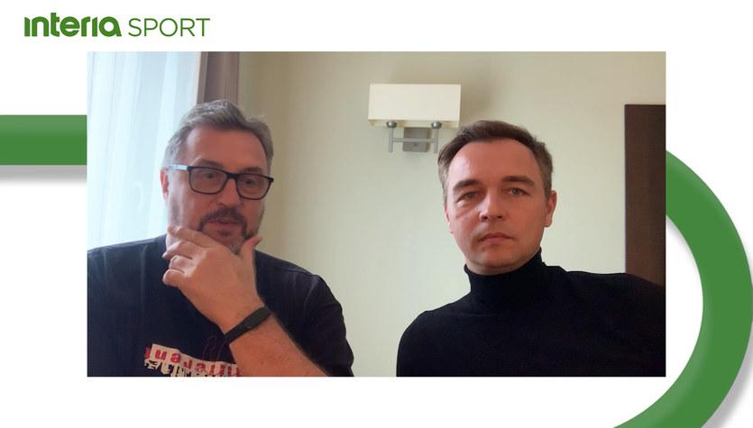 ME siatkarzy 2021. Wojciech Drzyzga i Jerzy Mielewski przed meczem ze Słowenią. Wideo
