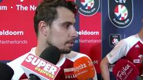 ME siatkarzy. Fabian Drzyzga po meczu z Hiszpanią (3:0). Wideo