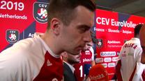 ME siatkarzy. Marcin Komenda po meczu z Hiszpanią (3:0). Wideo