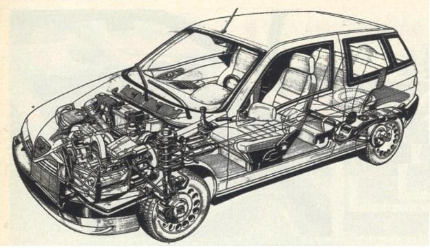 Mechanizmy Alfy Romeo 145 to nietypowy, podłużnie ustawiony zespół napędowy z płaskim silnikiem (podobny układ stosuje jeszcze tylko Subaru) oraz zupełnie klasyczne zawieszenie niezależne, zarówno z przodu, jak i z tyłu. /Motor