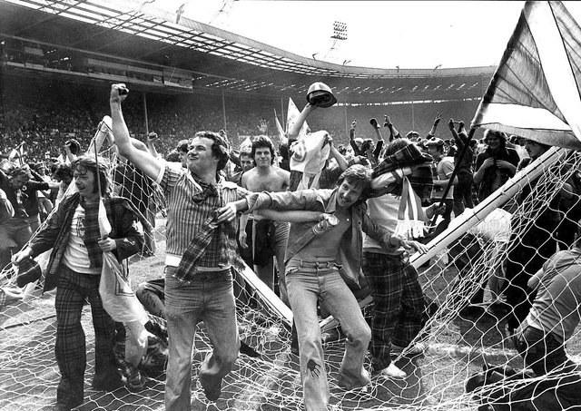 Mecz Anglia - Szkocja w 1977 r. / Scotsman.com /
