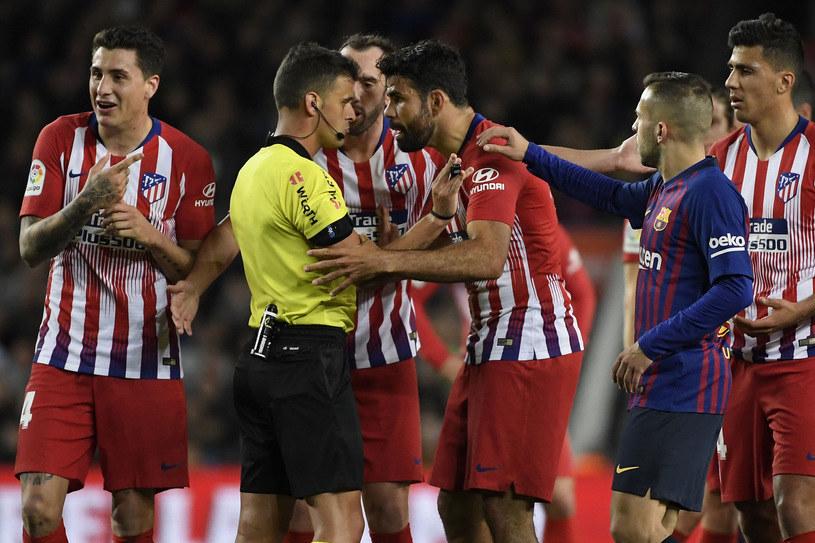 Mecz Atletico Madryt z Barceloną /AFP