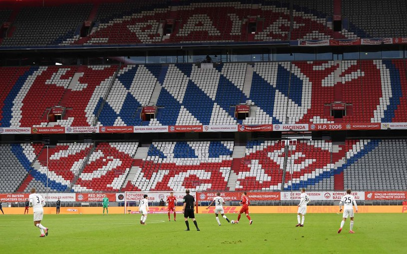 Mecz Bayernu bez kibiców /AFP