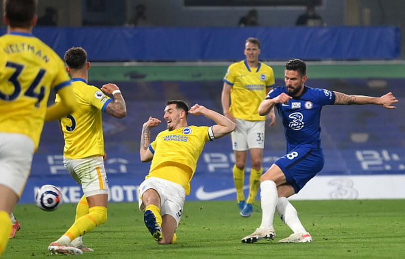 Mecz Chelsea - Brighton. Strzela Olivier Giroud /Mike Hewitt /Getty Images