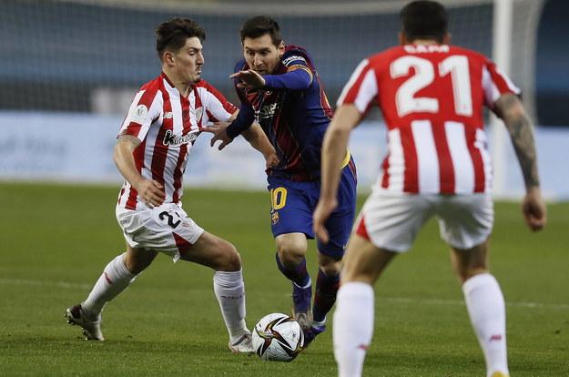 Mecz FC Barcelona - Ath. Bilbao. Wygrali Czerwono-Biali /JOSE MANUEL VIDAL /PAP/EPA
