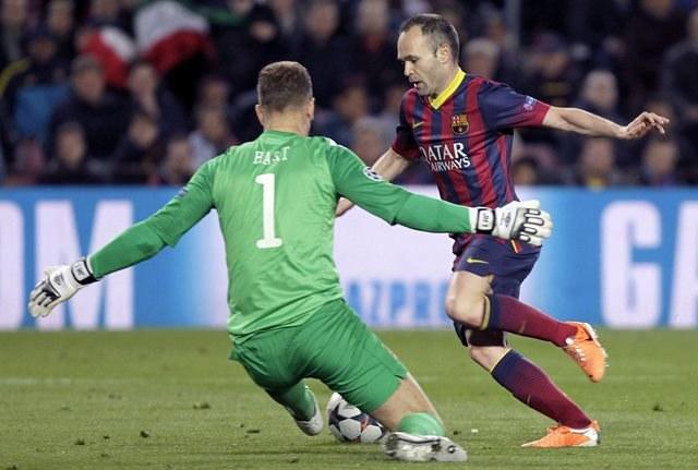 Mecz FC Barcelona - Manchester City /ANDREU DALMAU /PAP/EPA