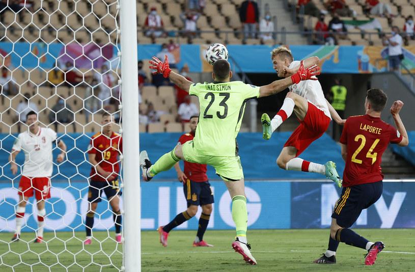 Mecz Hiszpania - Polska na Euro 2020. Strzał Karola Świderskiego /Marcelo del Pozo / Pool / Getty Images /Getty Images
