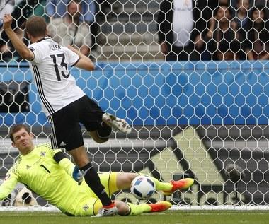 Mecz Irlandia Płn. - Niemcy 0-1 na Euro 2016. Niemcy wygrali grupę C!