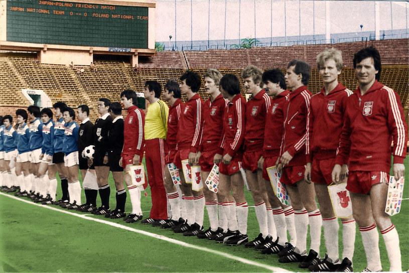 Mecz Japonia - Polska w Tokio 1981 r. / zbiory Jarosława Nowickiego /