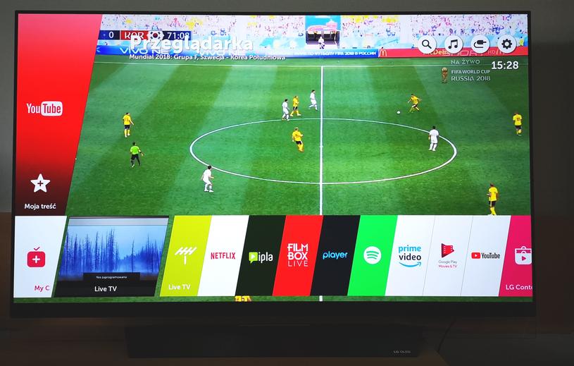 Mecz Korea-Szwecja - OLED sprawdzi się jako telewizor do sportu /INTERIA.PL