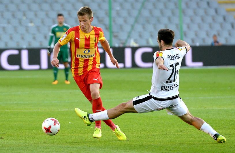 Mecz Korony z Jagiellonią na stadionie w Kielcach /Piotr Polak /PAP