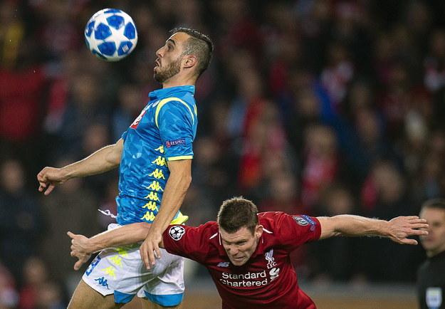 Mecz Liverpool - Napoli przyniósł wielkie emocje /PETER POWELL   /PAP/EPA