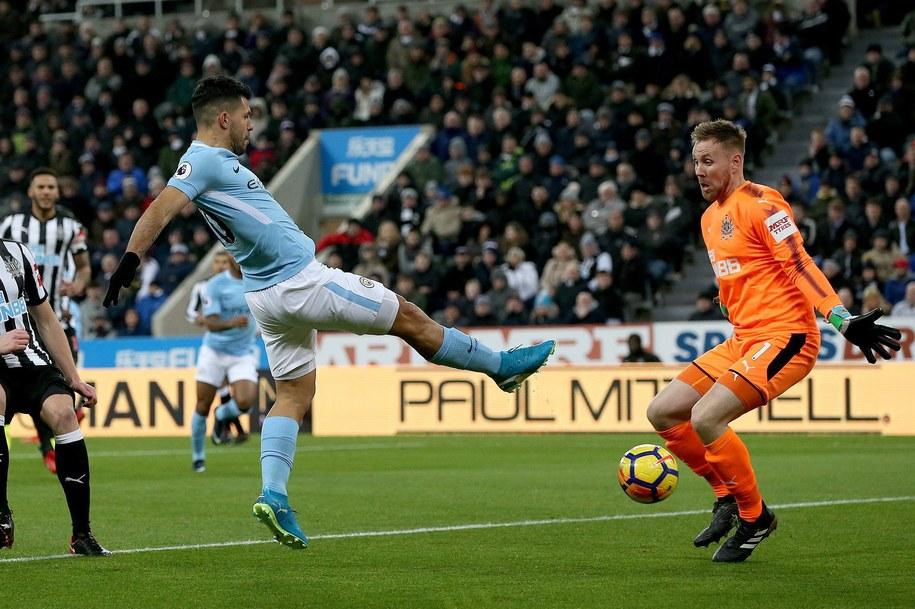 Mecz Manchesteru City z Newcastle United /Nigel Roddis /PAP/EPA