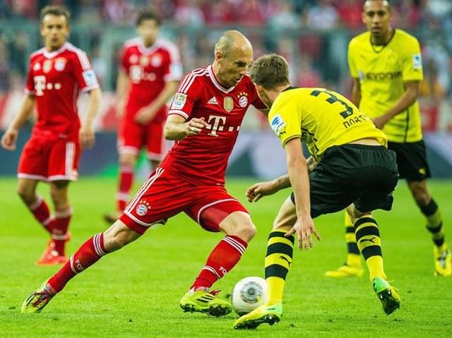 Mecz między Bayernem a Borussią /Marc Mueller /PAP/EPA